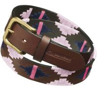 Pampeano - Leather Polo Belt - Rosa