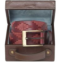 Pampeano - Vino Polo Belt with Luggage Trunk Gift Box
