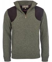 Barbour - Mens Fellan Sports Half Zip Jumper - Seaweed