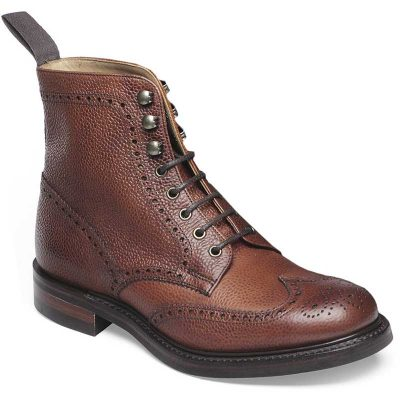 Cheaney Ladies - Olivia R Brogue Country Boot - Mahogany Grain