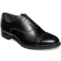 Cheaney - Rushton Oxford Semi Brogue Shoes - Black Calf