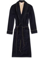 Derek Rose - Duke Men's Cashmere Dressing Gown - Navy