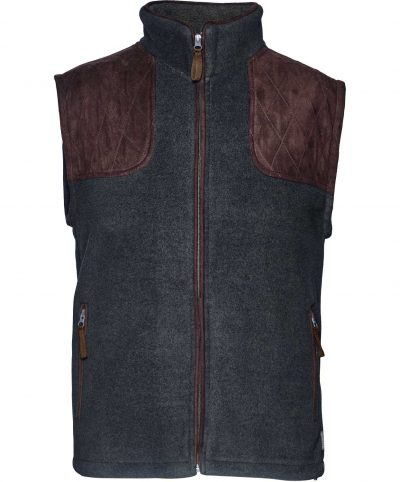 Seeland Mens William II Fleece Waistcoat - Navy Blue
