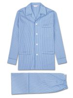 Derek Rose Pyjamas - Gingham Cotton Check Blue