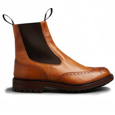 Tricker's Henry Elastic Brogue Boots - Dainite Sole