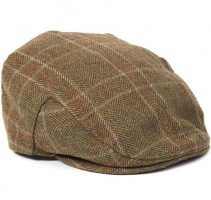 Barbour - Men's Tweed Crieff Cap - Olive & Mixed Herringbone