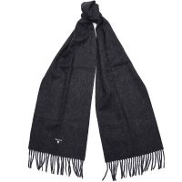Barbour - Plain Lambswool Scarf - Charcoal