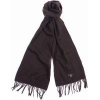 Barbour - Plain Lambswool Scarf - Chocolate
