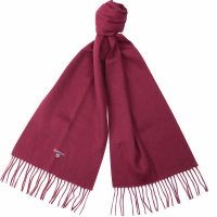 Barbour - Plain Lambswool Scarf - Deep Red
