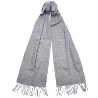 Barbour - Plain Lambswool Scarf - Grey Marl