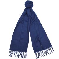 Barbour - Plain Lambswool Scarf - Navy