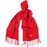 Barbour - Plain Lambswool Scarf - Red