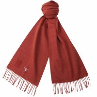 Barbour - Plain Lambswool Scarf - Rust