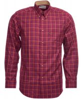 Barbour - Men's Sporting Tattersall Relaxed Fit Shirt - Ruby