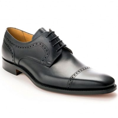Barker Leo Derby Shoes - Black Calf