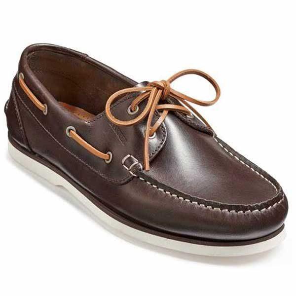 Barker Wallis 2 Deck Shoe - Dark Brown Calf