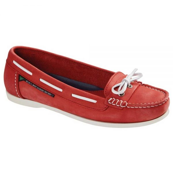 Dubarry Fiji Ladies Deck Shoes - Red