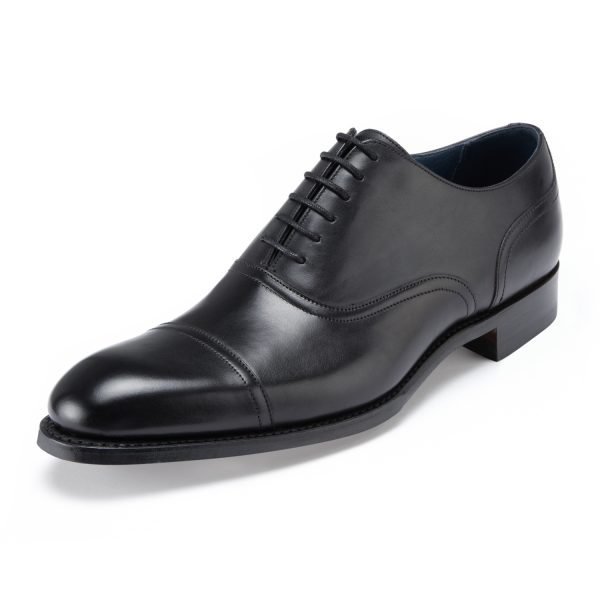 LOAKE Aldwych Shoes - Mens Classic Oxford - Black