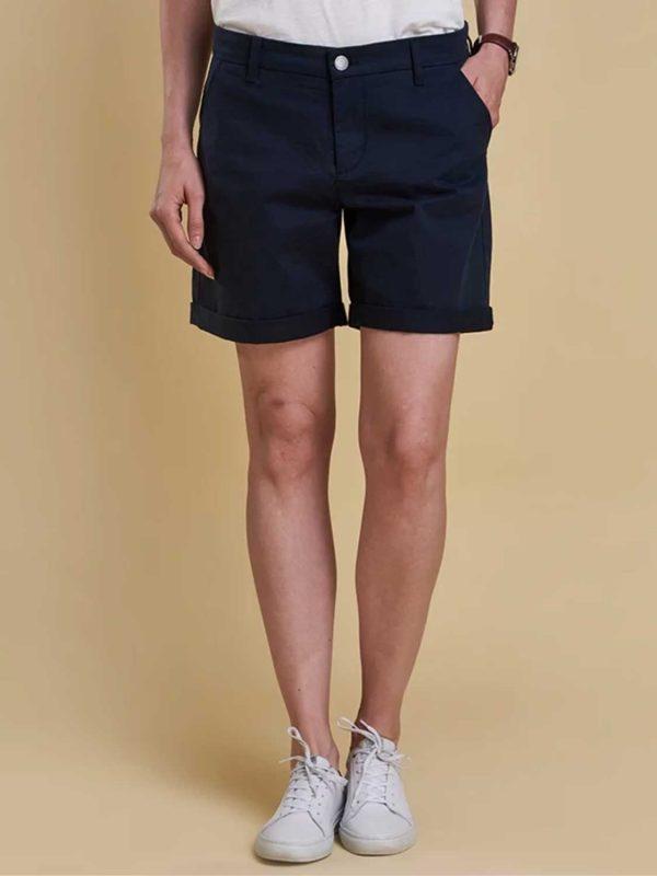 BARBOUR Shorts - Ladies Essential Cotton - Navy