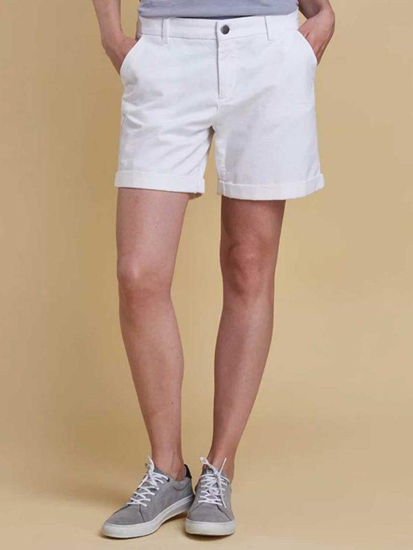 BARBOUR Shorts - Ladies Essential Cotton - White