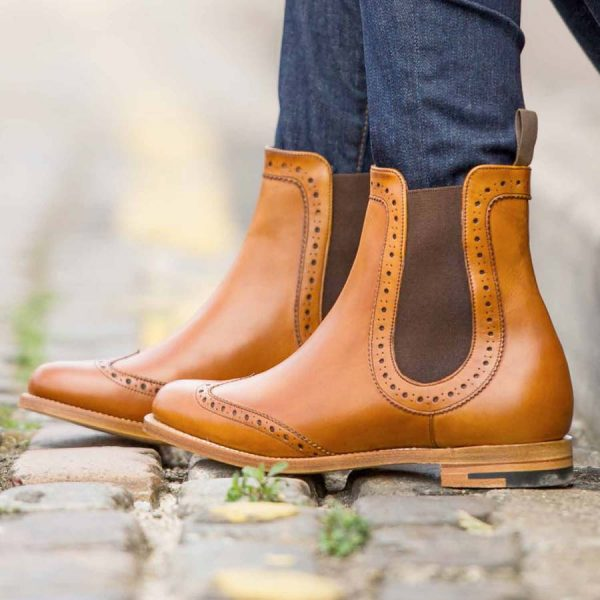 Barker Ladies Sabrina Brogue Chelsea Boots