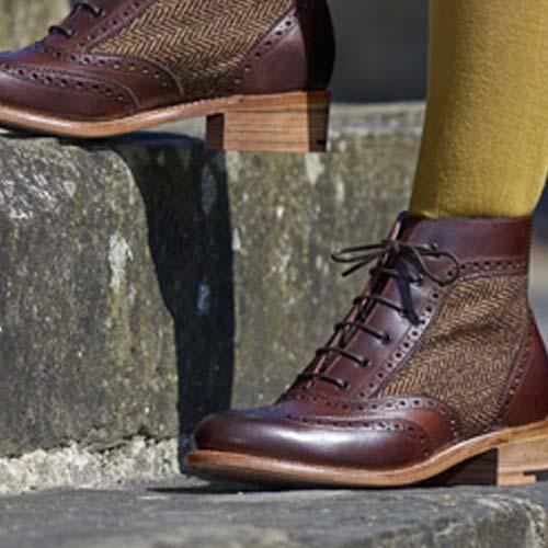 BARKER Ladies Boots Grace Brogue