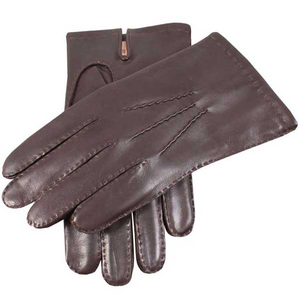 Dents Men's Gloves - Chelsea Cashmere Lined - Brown
