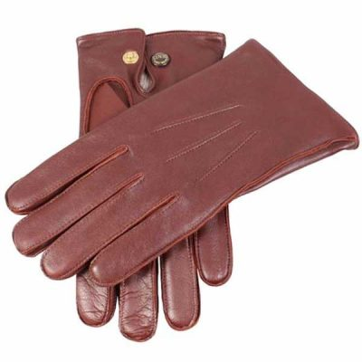 Dents Men's Gloves - Mendip Leather & Wool Lined - Tan