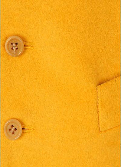 Magee Moleskin Waistcoat - Yellow Closeup