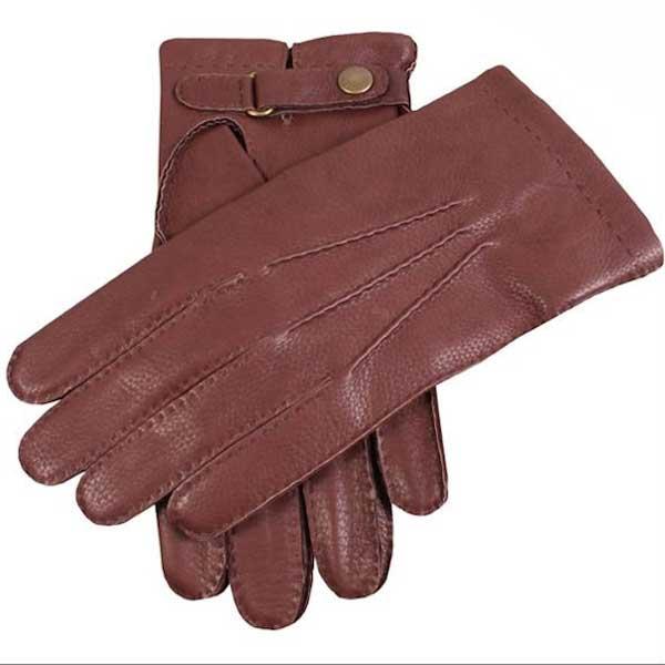 Dents Canterbury - Men's Deerskin Leather Gloves - Bark