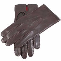 Dents Kingston Men's Leather Gloves - Silk Lined - Brown