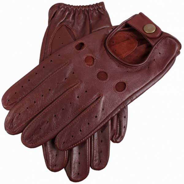 Dents Delta Men's Leather Driving Gloves - English Tan