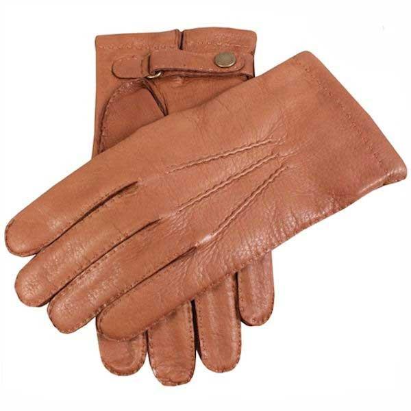 Dents Canterbury - Men's Deerskin Leather Gloves - Havana