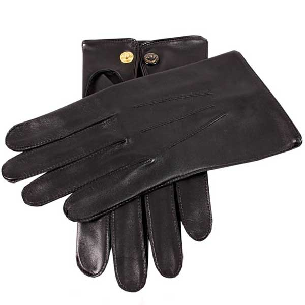 Dents Sandhurst Men's Unlined Nappa Leather Gloves - Black