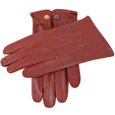 Dents Sandhurst Men's Unlined Nappa Leather Gloves - Tan