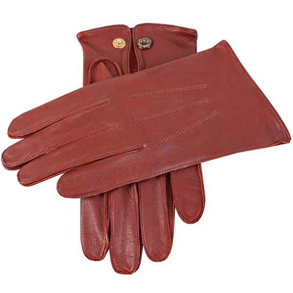 Dents Sandhurst Men's Unlined Nappa Leather Gloves - Tan