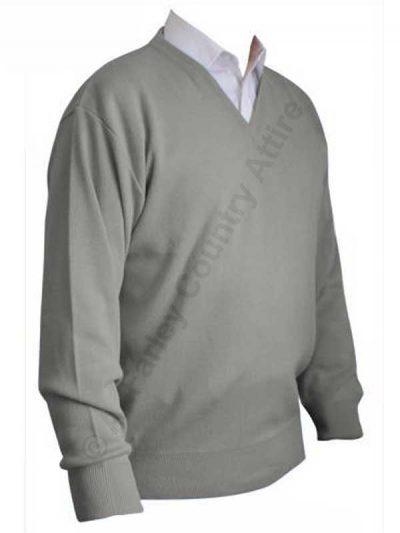 Franco Ponti V-Neck Sweater - Silver