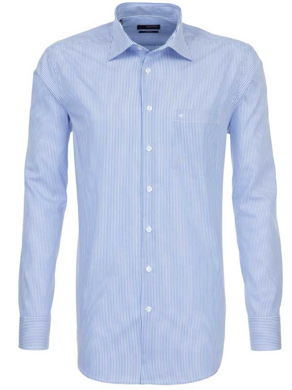 Seidensticker Blue Stripe Shirt - Classic Splendesto Cotton