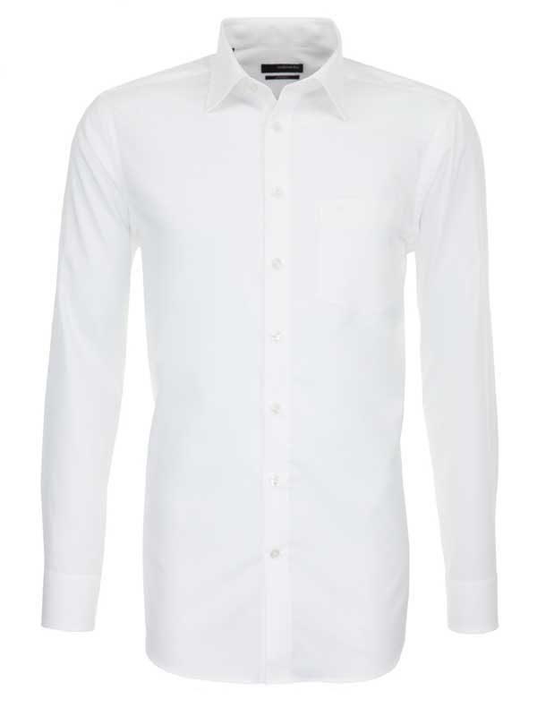 Seidensticker White Shirt - Classic Splendesto Pure Cotton