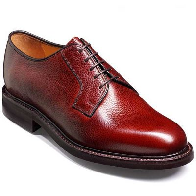 Barker Shoes - Nairn Cherry Grain - Derby Style