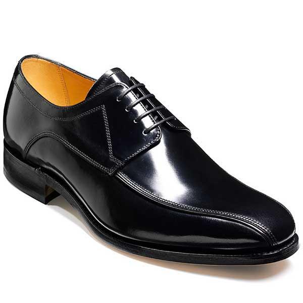 Barker Shoes - Newbury Black Hi-Shine - Derby Style