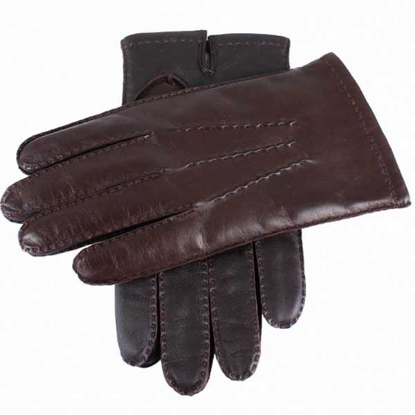 Dents Shaftesbury Men's Leather Touchscreen Gloves - Brown
