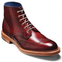 Barker Boots - Butcher Cherry Calf - Country Brogue Boot