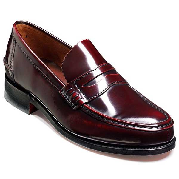 afe5deece99 Barker Shoes - Mens Caruso Loafers - Burgundy Hi-Shine