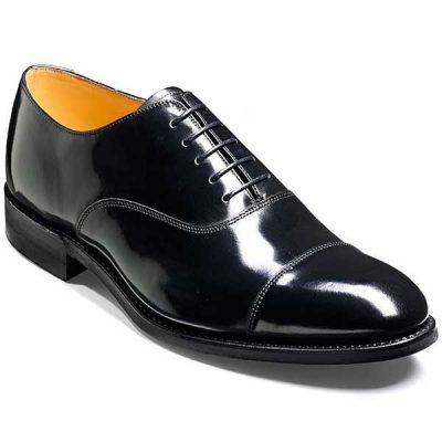 Barker Shoes - Cheltenham Black Hi-Shine - Oxford Style