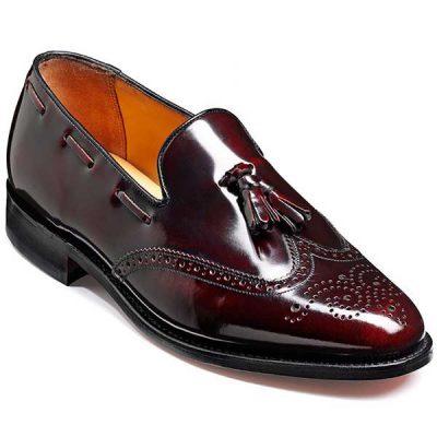 Barker Shoes - Clive Burgundy Hi-Shine - Loafer With Tassel