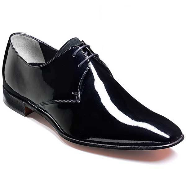 Barker Shoes - Goldington Black Patent - Formal Derby Style