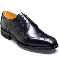 Barker Shoes - Longworth Black Calf - Derby Brogue - Wide Fit