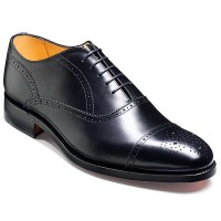 Barker Shoes - Newcastle Black Calf - Oxford Brogue