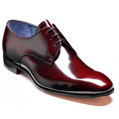 Barker Shoes - Rutherford Burgundy Cobbler - Derby Style
